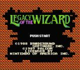 Legacy of the Wizard NES Title screen
