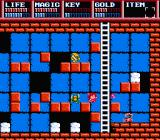 Legacy of the Wizard NES Red-blue dungeon area
