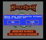 King's Quest V NES The real title screen