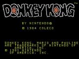 Donkey Kong Coleco Adam Title screen 2