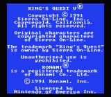 King's Quest V NES What the... is THIS the title screen?!