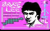 Bruce Lee PC Booter Title screen (CGA with RGB monitor)