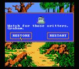 King's Quest V: Absence Makes the Heart Go Yonder NES Bitten by a poisonous snake