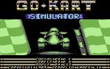 Go-Kart Simulator Commodore 64 Title Screen