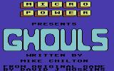 Ghouls Commodore 64 Title Screen
