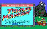 Super Solvers: Treasure Mountain! DOS Title screen (Tandy/PCjr)
