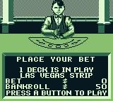 Las Vegas Cool Hand Game Boy Make your bet for Blackjack