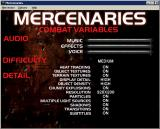 MechWarrior 2: Mercenaries Windows One of the game's configuration screens that is accessed via the menu bar