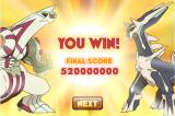 Pokémon: Towering Legends Browser After completing 8 levels, your total score is given to you.