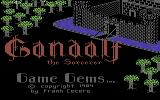 Gandalf the Sorcerer Commodore 64 Title Screen
