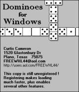 Dominoes Windows The game's title screen opens in a tiny window