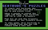 Gertrude's Puzzles Commodore 64 Enough practicing - let's get Gertrude.
