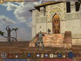 Ultima IX: Ascension Windows Jumping from joy in front of the majestic palace in Trinsic