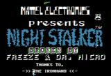Night Stalker Apple II Title screen (cracked)