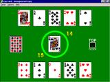 Top Card Windows A game in progress
