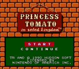 Princess Tomato in the Salad Kingdom NES Title screen