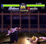 Fighters' Impact PlayStation Silene vs Kaede