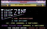 TimeZone: The Challenge Remains Commodore 64 Title Screen