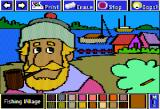 Electric Crayon: This Land Is Your Land Apple II Fishing Village