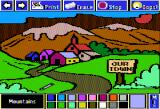 Electric Crayon: This Land Is Your Land Apple II Mountains