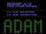 Brainstorm Coleco Adam Main menu