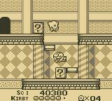 Kirby's Dream Land Game Boy Shocked enemy