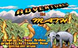 Adventures in Math Amiga Title screen