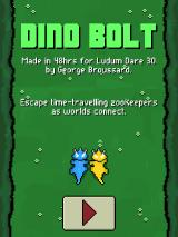 Dino Bolt Linux Title screen