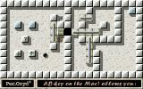 Oxyd 2 DOS Level 2: clear a path by pushing the puzzle pieces around.