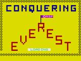 Conquering Everest ZX Spectrum Loading Screen