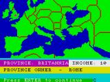 The Fall of Rome ZX Spectrum Map of the game area