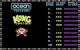 Kong Strikes Back! Commodore 64 Title Screen