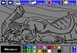 Electric Crayon Deluxe: Dinosaurs Are Forever Apple II Allosaurus is not painted yet
