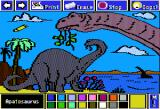 Electric Crayon Deluxe: Dinosaurs Are Forever Apple II Apatosaurus had a long neck and tail, huge body with a very small head, and legs and feet similar to an elephant