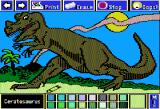Electric Crayon Deluxe: Dinosaurs Are Forever Apple II Ceratosaurus had a horn-like growth above its nose and a bony ridge above each eye