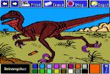 Electric Crayon Deluxe: Dinosaurs Are Forever Apple II Deinonychus was an extremely fast runner and used its unique sickle-shaped claw on its hind feet to rip open its prey