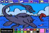 Electric Crayon Deluxe: Dinosaurs Are Forever Apple II Elasmosaurus had four paddles for swimming