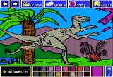 Electric Crayon Deluxe: Dinosaurs Are Forever Apple II Ornitholestes was a swift runner, built for speed, and ate small reptiles and birds