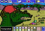 Electric Crayon Deluxe: Dinosaurs Are Forever Apple II Pachycephalosaurus probably butted heads during the mating season
