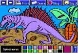 Electric Crayon Deluxe: Dinosaurs Are Forever Apple II Spinosaurus had spines probably acted as a radiator, to control the body temperature