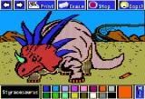 Electric Crayon Deluxe: Dinosaurs Are Forever Apple II Styracosuarus had a beak-like mouth, a head covered with a frill with six spikes in the back and a horn above its nose
