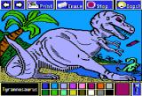 Electric Crayon Deluxe: Dinosaurs Are Forever Apple II Tyrannosaurus had to be the most powerful animal that ever walked the earth