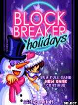 Block Breaker Holidays J2ME Title screen