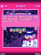 Block Breaker Holidays J2ME The snowman does the talking