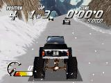 Thunder Truck Rally DOS In-game, snowy scenario