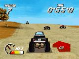 Thunder Truck Rally DOS In-game, desert scenario
