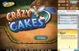 Crazy Cakes Browser Title screen.