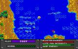 "Whitewater Madness Atari ST A floating pod marked ""B"" near the bottom of the screen"
