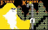 Thunder Castle Intellivision Get ready, first knight (splash screen two)