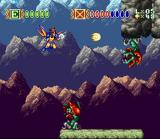 Skyblazer SNES A Shoot'Em Up level